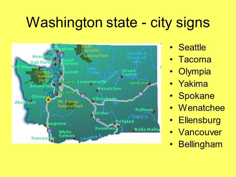 Washington state - city signs