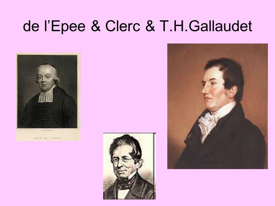 de l'Epee & Clerc & T.H.Gallaudet
