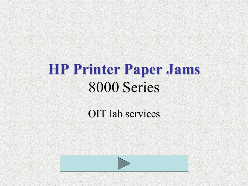HP Printer Paper Jams 8000 Series