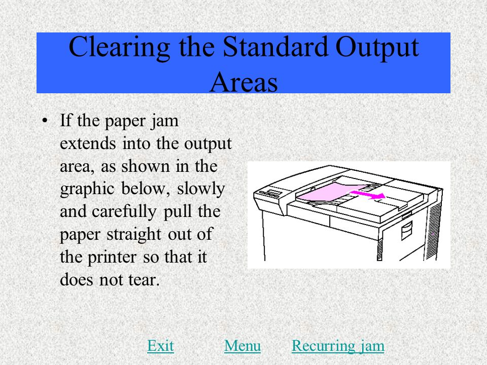 Clearing the Standard Output Areas