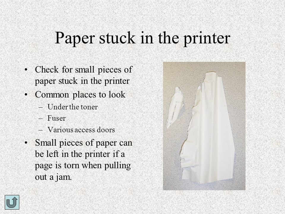 Paper stuck in the printer