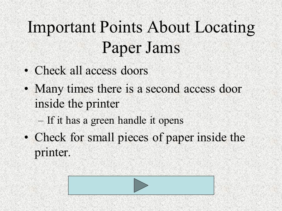 Important Points About Locating Paper Jams