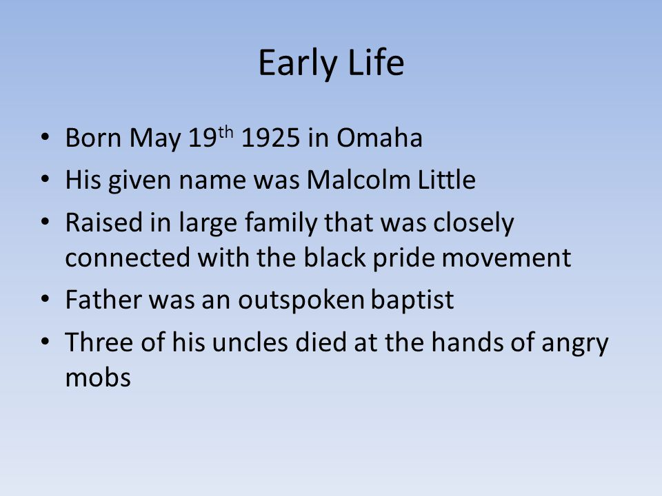 Early Life Born May 19th 1925 in Omaha