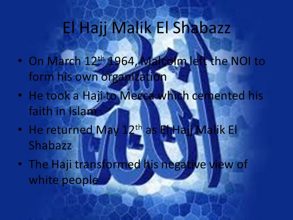 El Hajj Malik El Shabazz