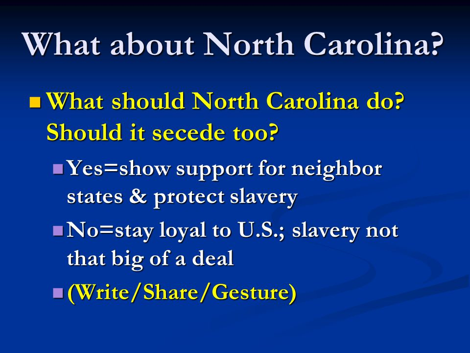 What about North Carolina