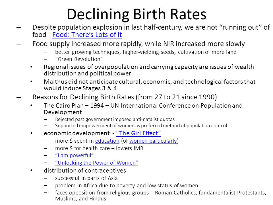 population problems the declining birth rate essay