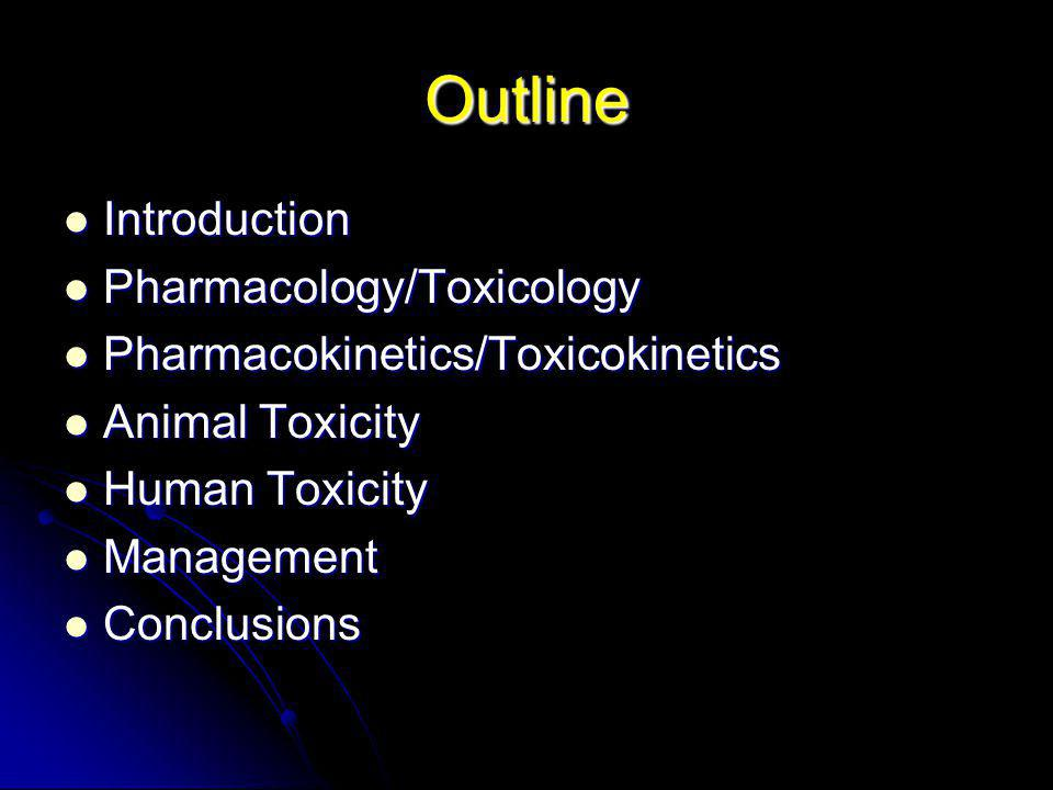 Outline Introduction Pharmacology/Toxicology