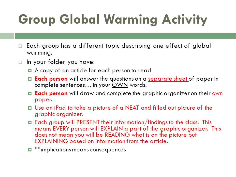Group Global Warming Activity