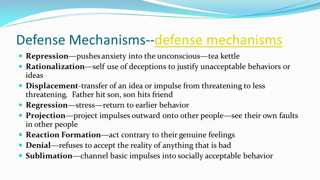 Defense Mechanisms--defense mechanisms