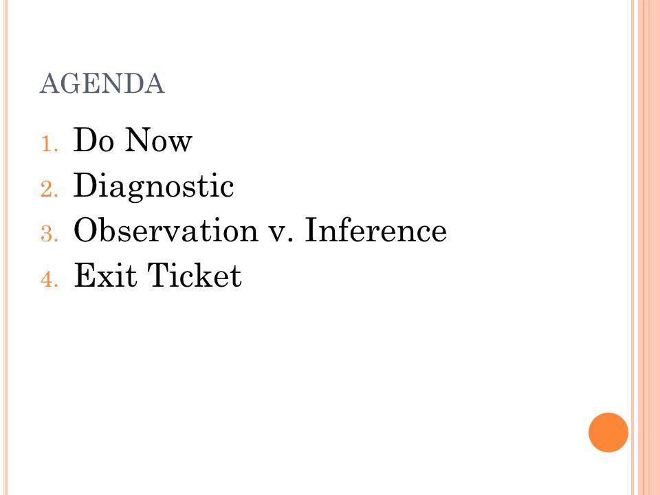 Observation v. Inference Exit Ticket