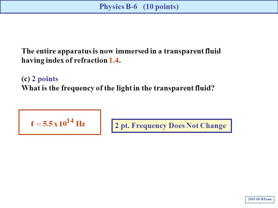 What is the frequency of the light in the transparent fluid