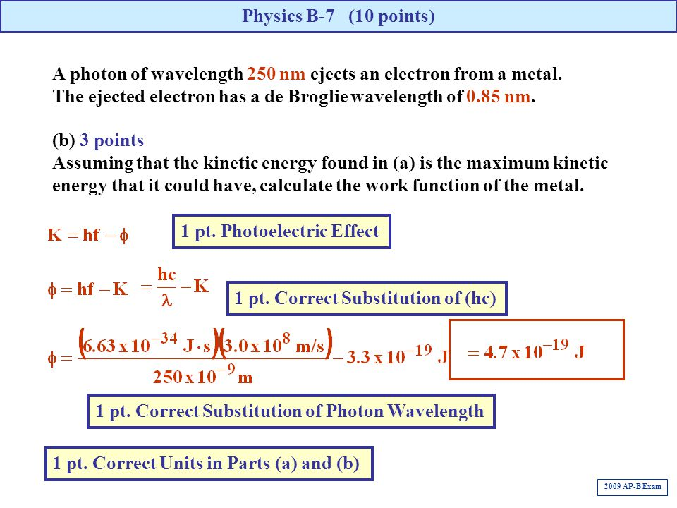 1 pt. Photoelectric Effect