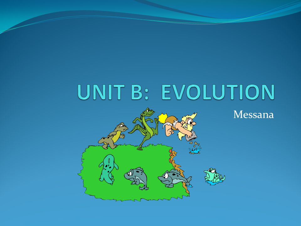 UNIT B: EVOLUTION Messana