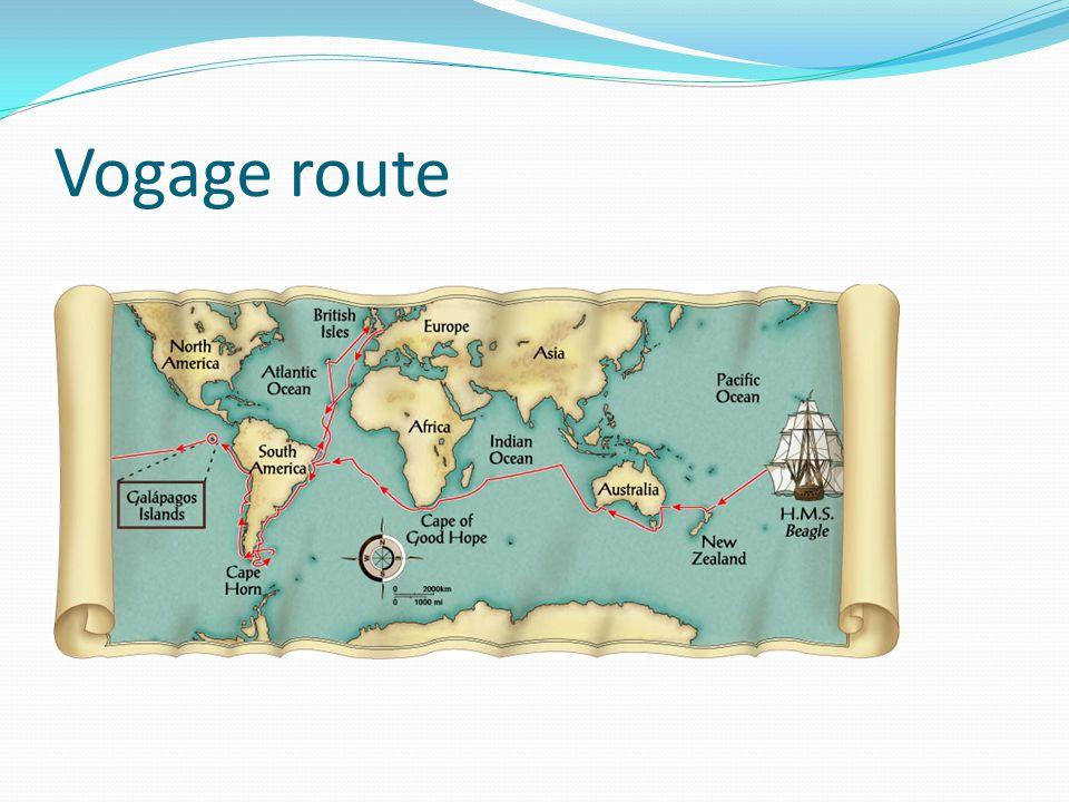Vogage route