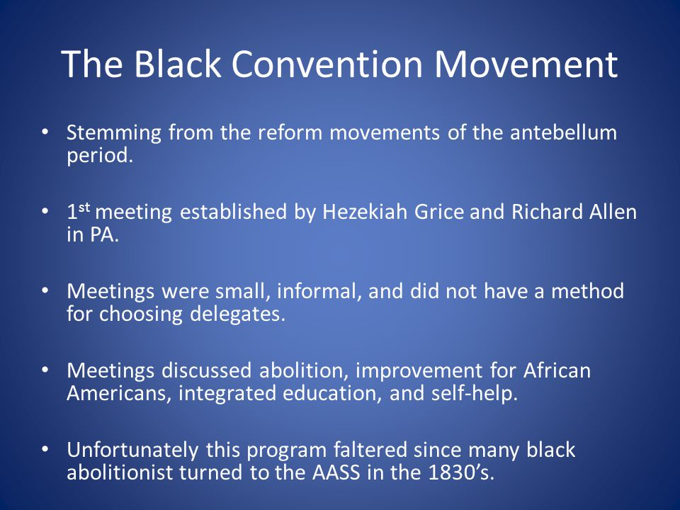 The Black Convention Movement