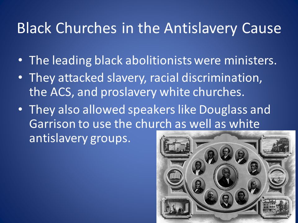 Black Churches in the Antislavery Cause