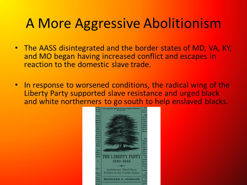 A More Aggressive Abolitionism