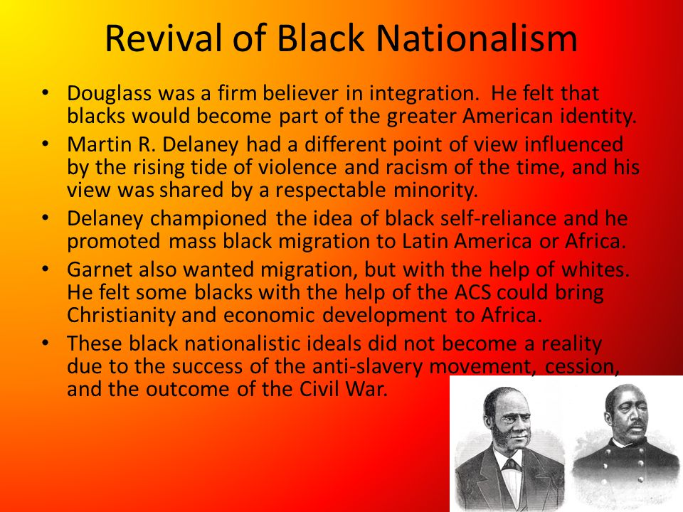 Revival of Black Nationalism