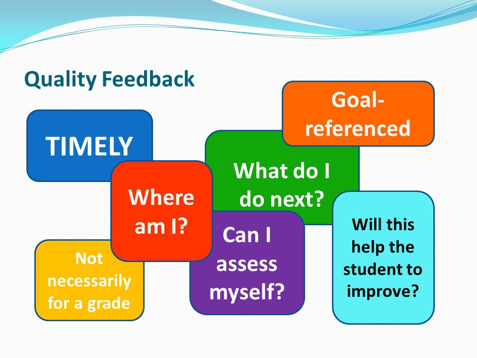 Will this help the student to improve Not necessarily for a grade