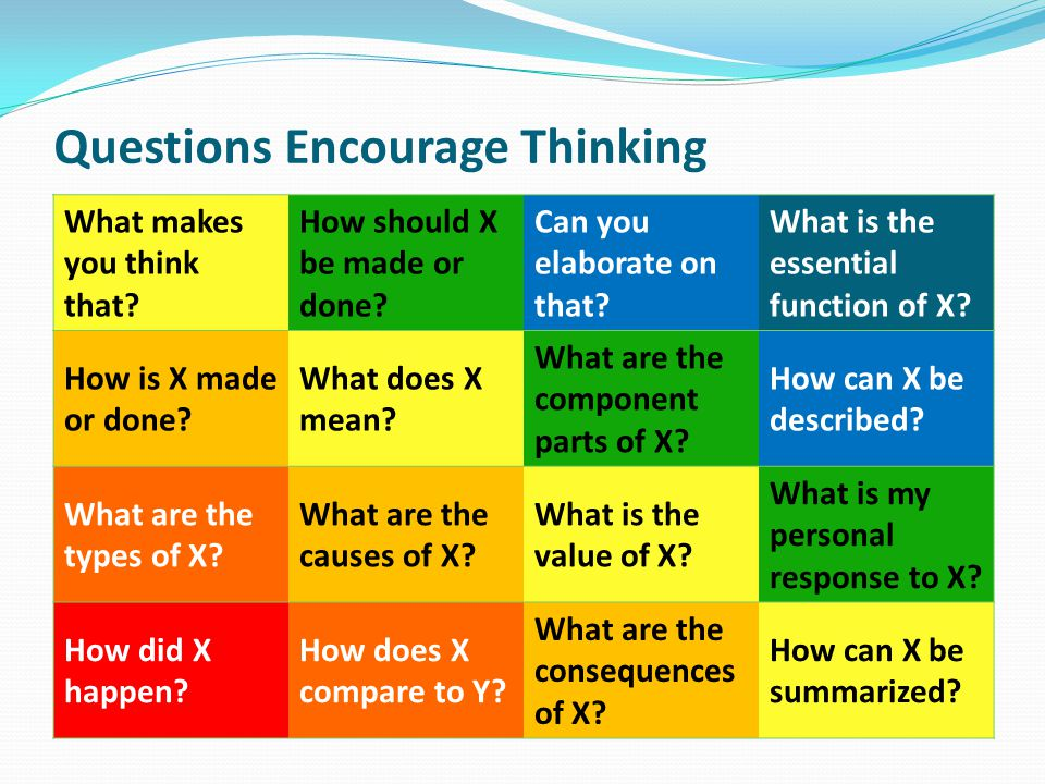 Questions Encourage Thinking