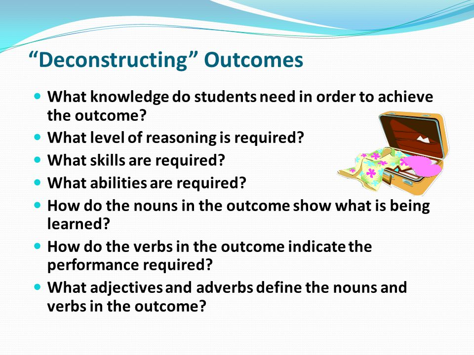 Deconstructing Outcomes