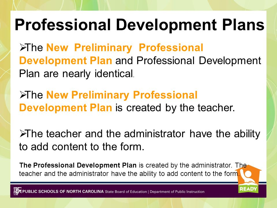 Professional Development Plans
