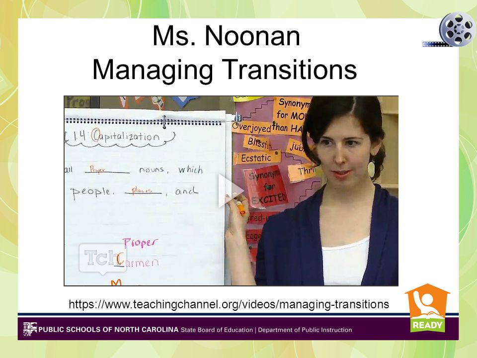 Managing Transitions Ms. Noonan