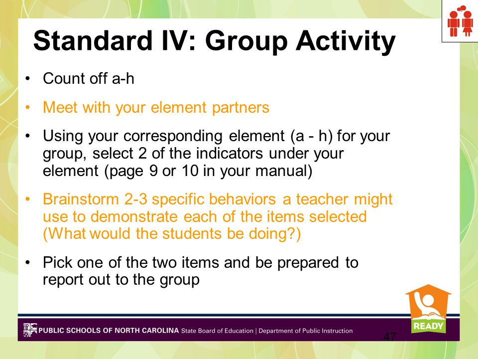 Standard IV: Group Activity