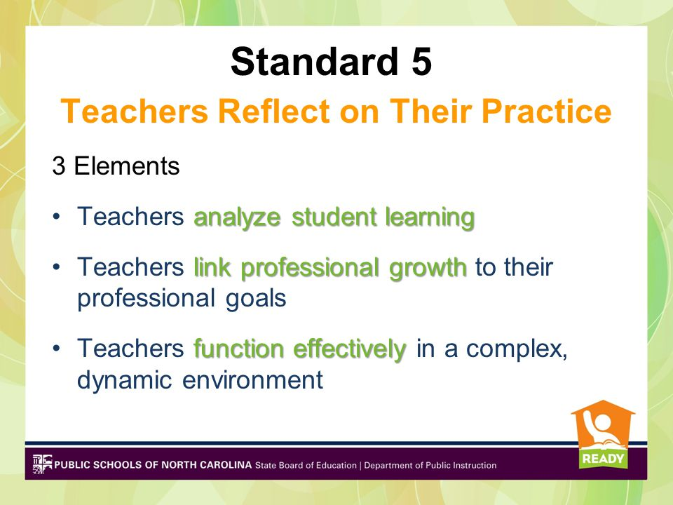 Standard 5 Teachers Reflect on Their Practice