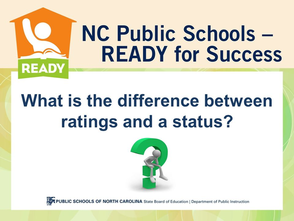 What is the difference between ratings and a status
