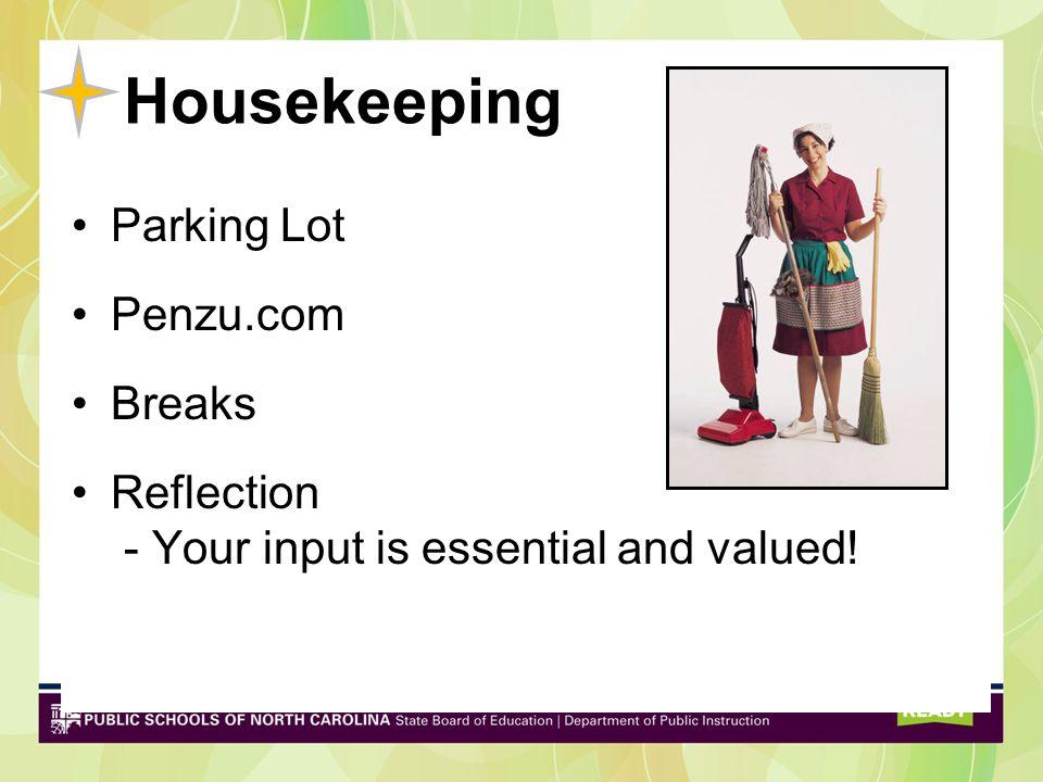 Housekeeping Parking Lot Penzu.com Breaks
