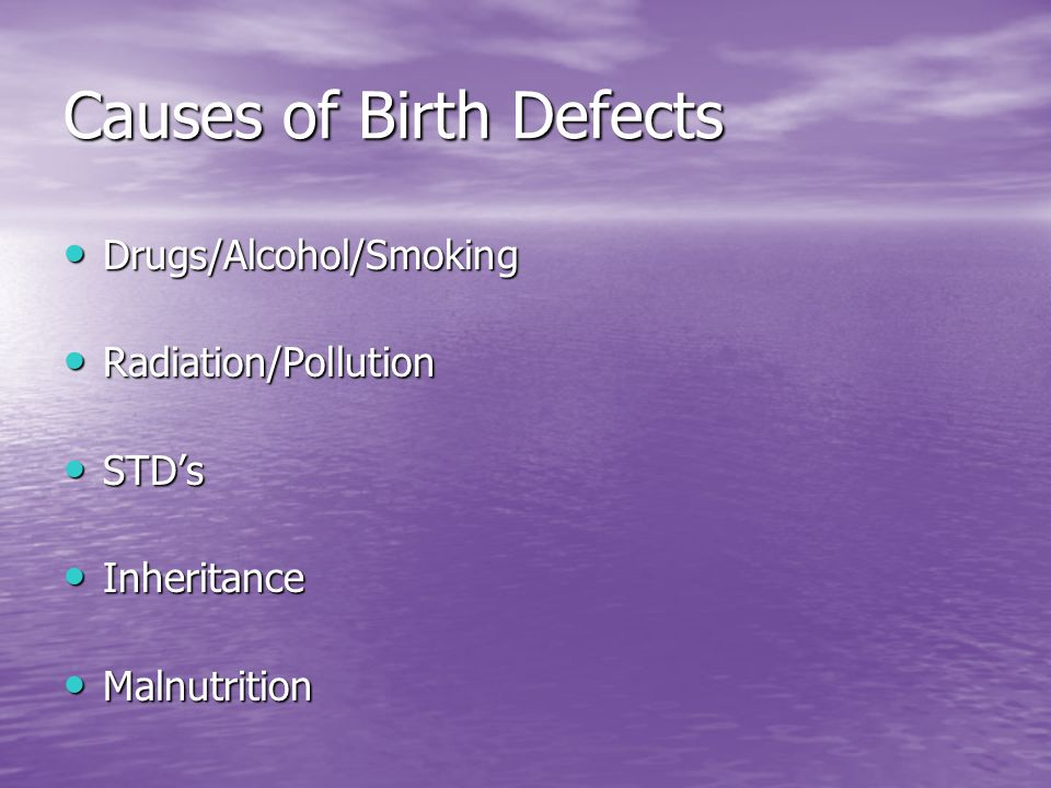 Causes of Birth Defects