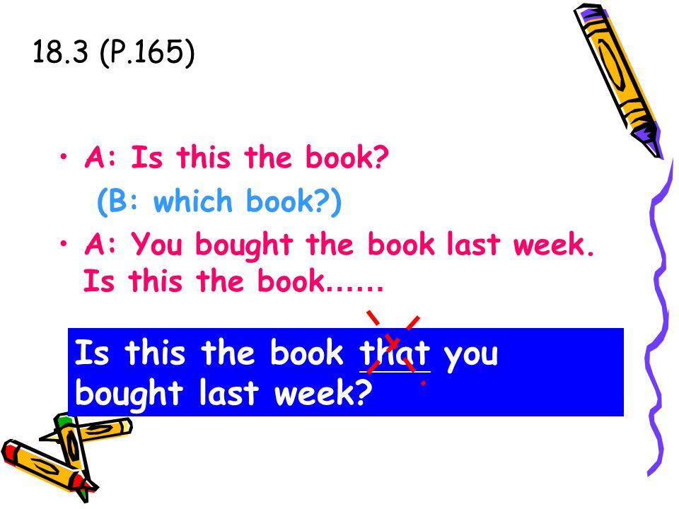 Is this the book that you bought last week