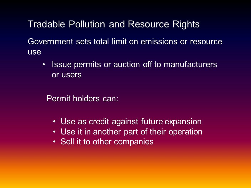 Tradable Pollution and Resource Rights