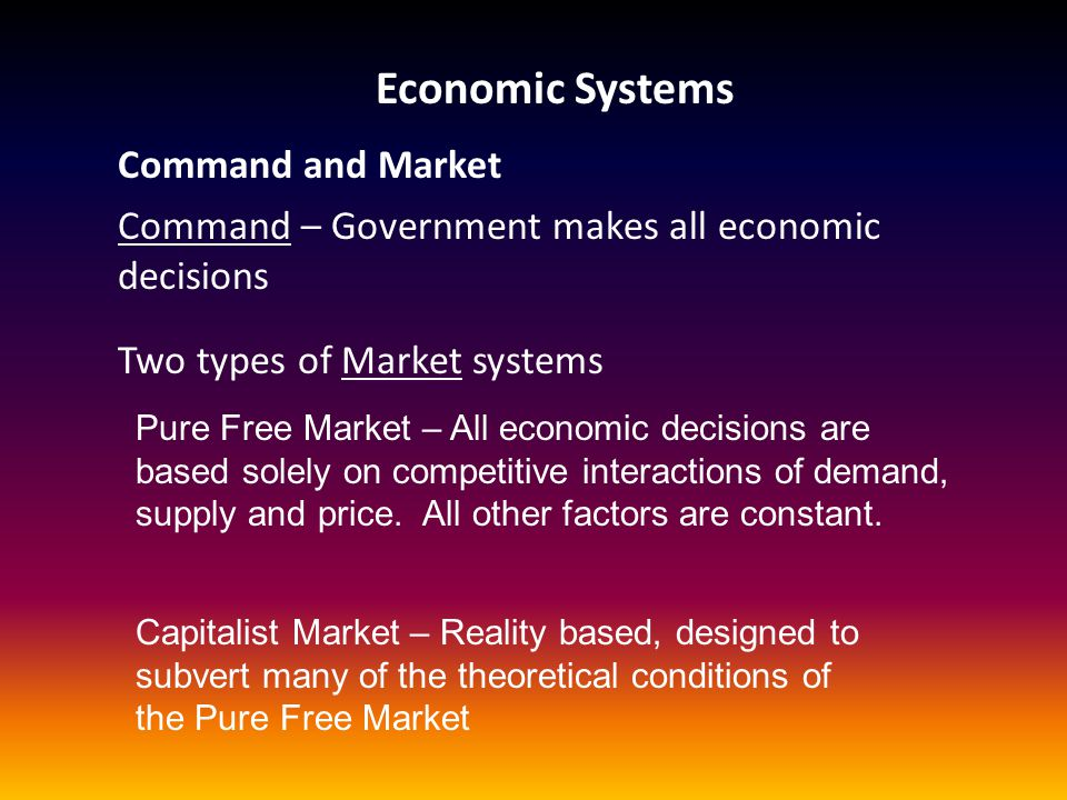 Economic Systems Command and Market