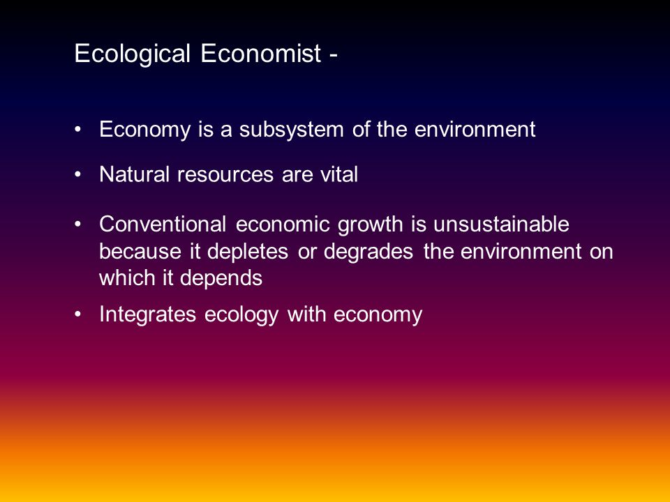 Ecological Economist -