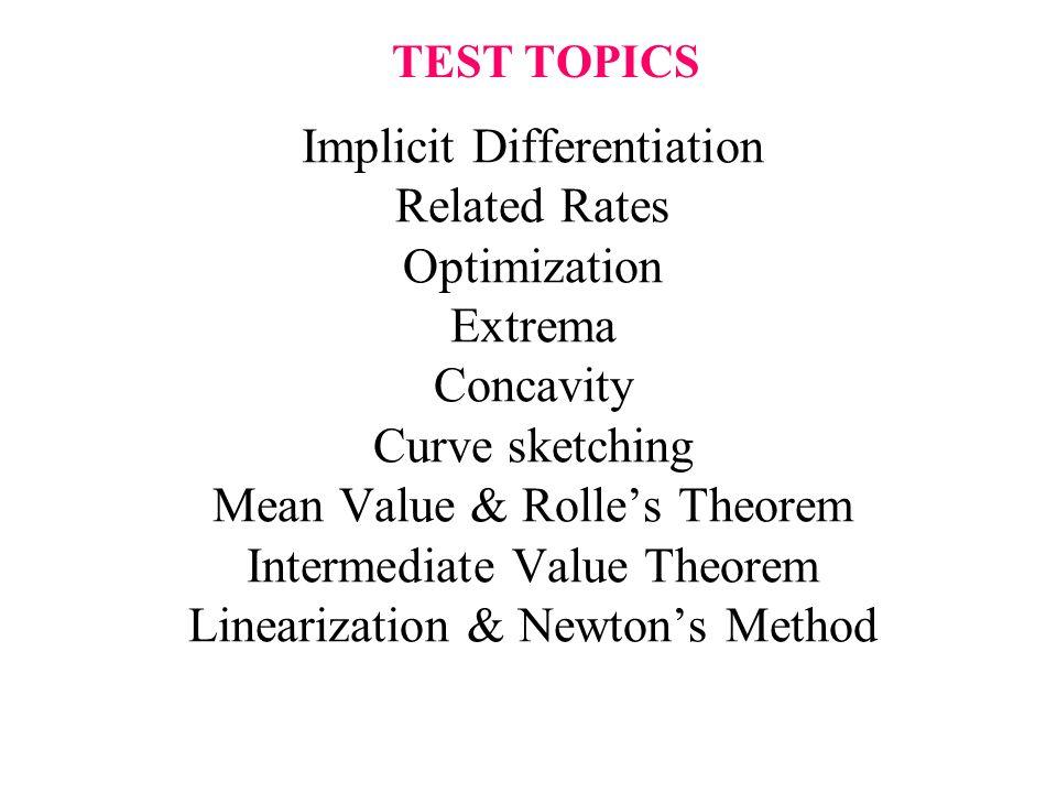 TEST TOPICS