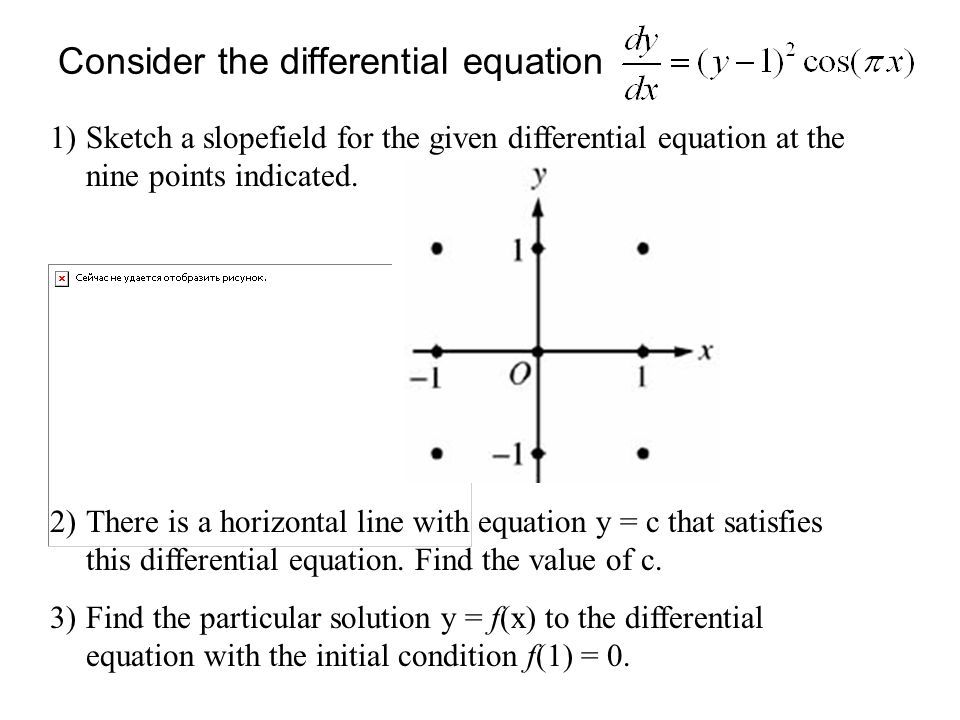 Consider the differential equation