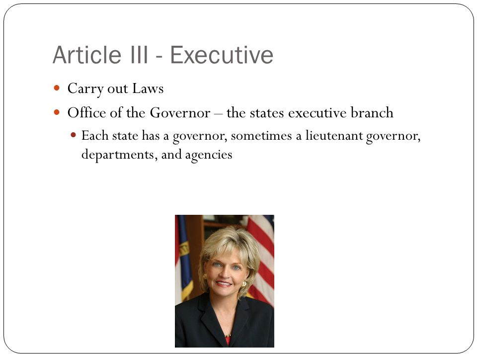 Article III - Executive