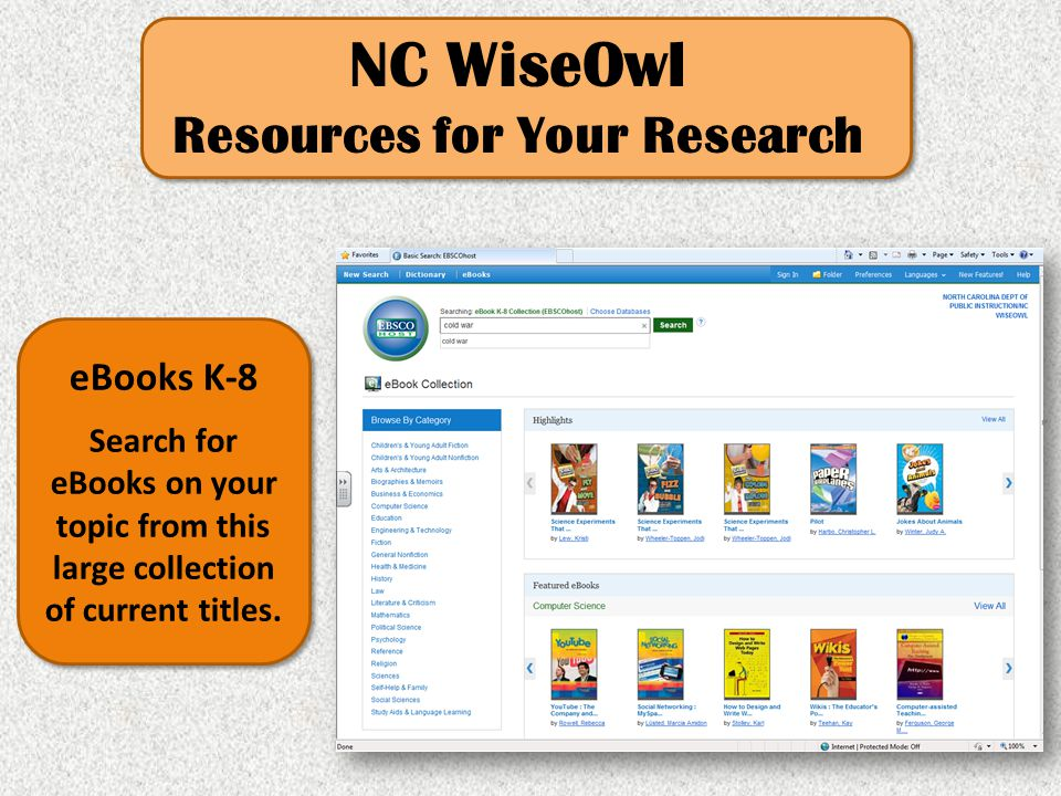 Resources for Your Research
