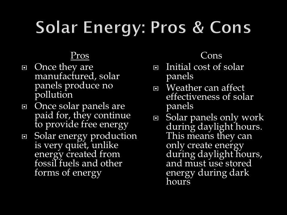 Solar Energy: Pros & Cons