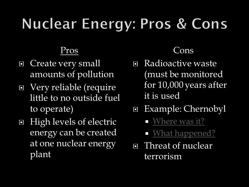 Nuclear Energy: Pros & Cons