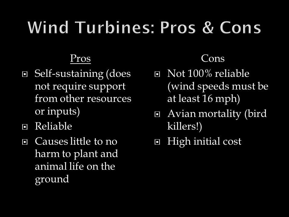Wind Turbines: Pros & Cons