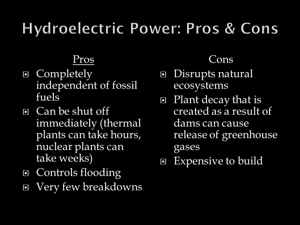 Hydroelectric Power: Pros & Cons