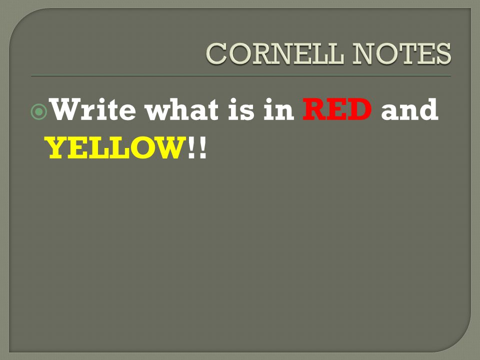 Write what is in RED and YELLOW!!