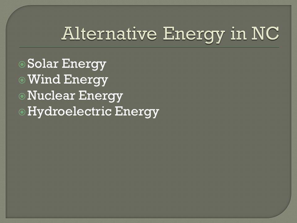 Alternative Energy in NC