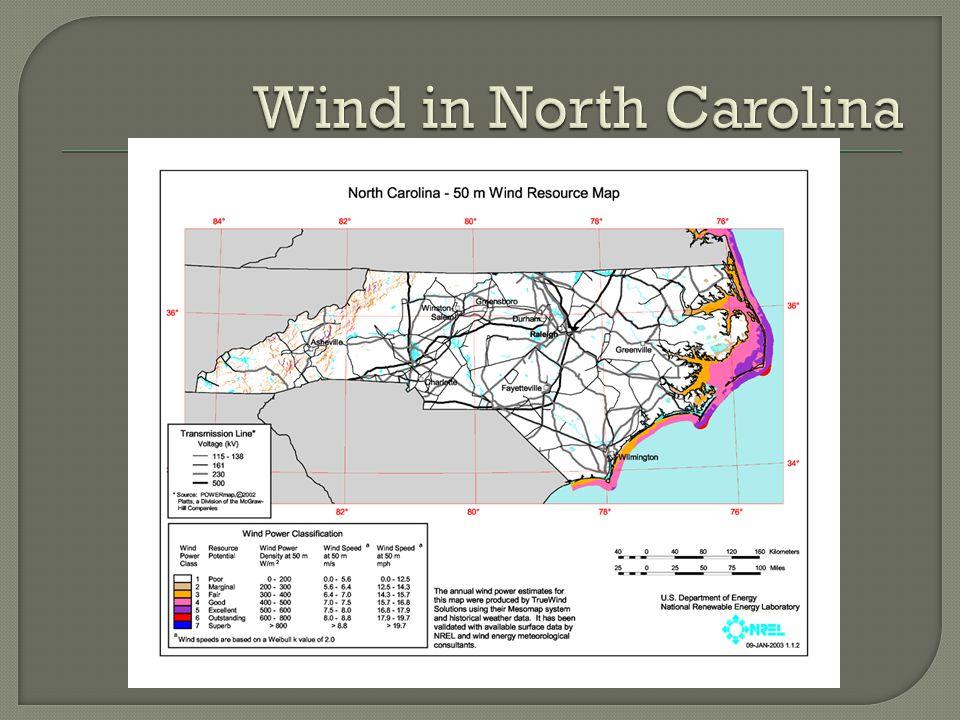 Wind in North Carolina