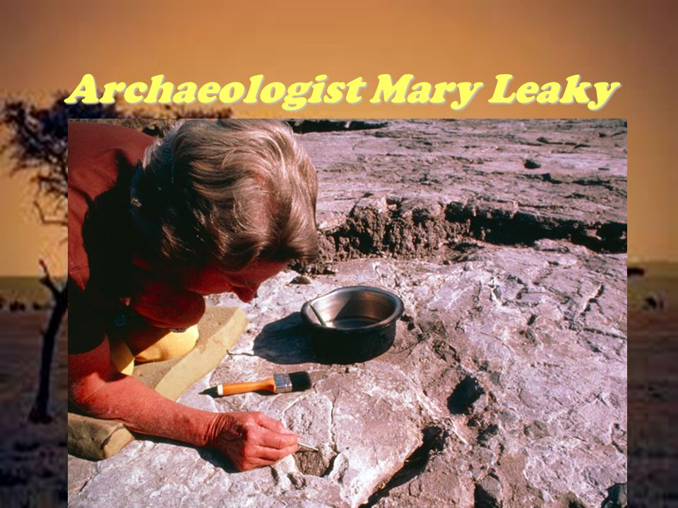 Archaeologist Mary Leaky
