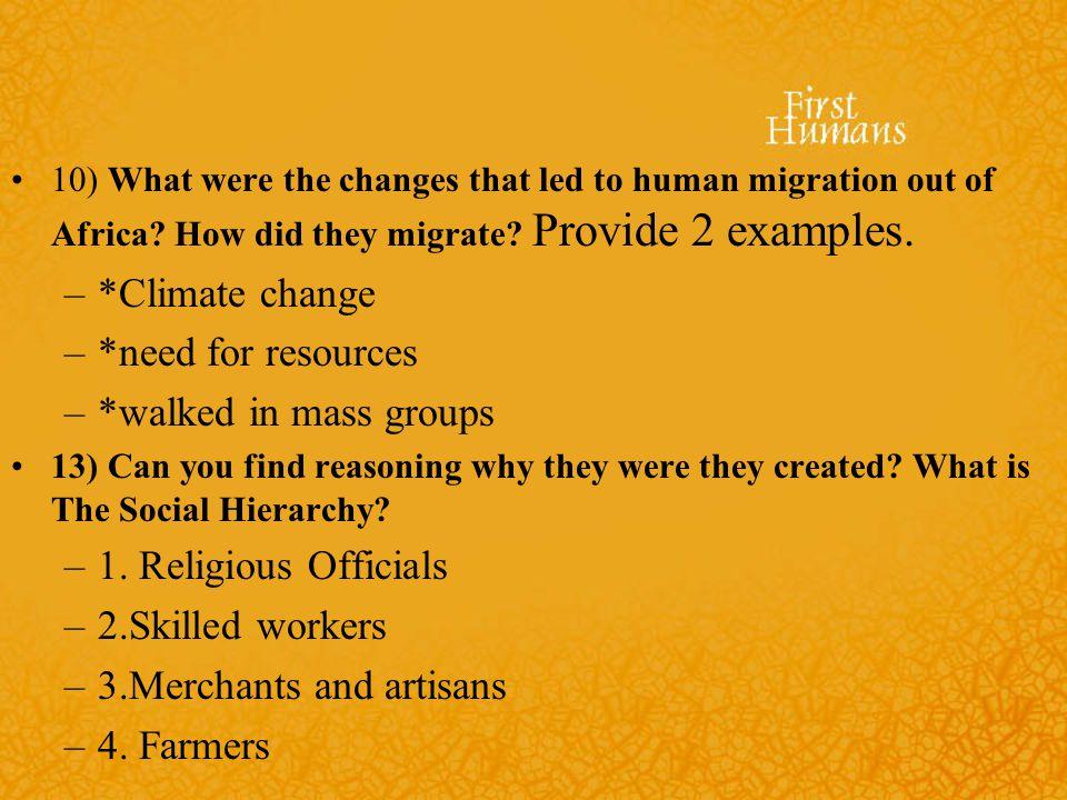 3.Merchants and artisans 4. Farmers