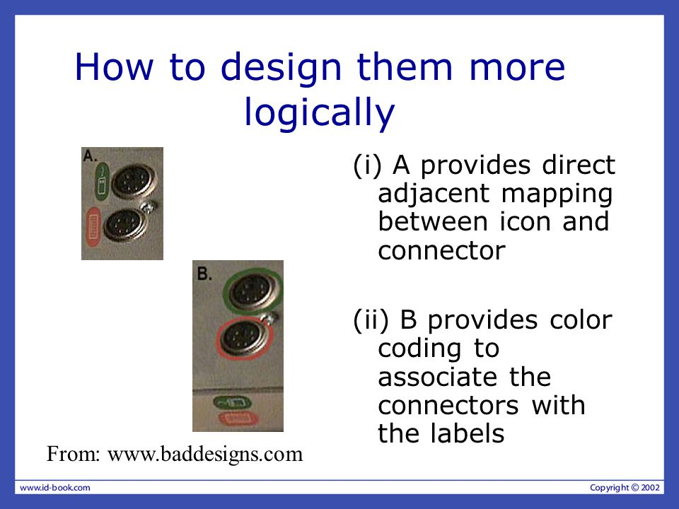 How to design them more logically